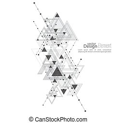 Abstract vector background with geometric shapes...