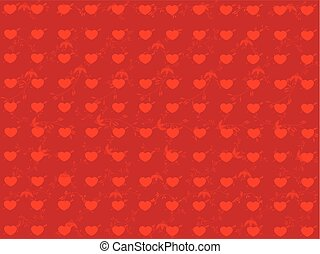 Abstract vector background with hearts