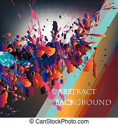 Abstract vector background with ink colored spots in psyhodelic style.eps