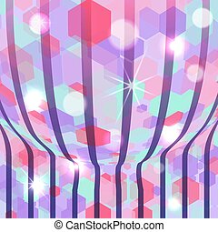 Abstract vector background with lights