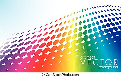 abstract vector background with rainbow circle pattern and text space
