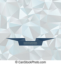Abstract vector background with ribbon for text