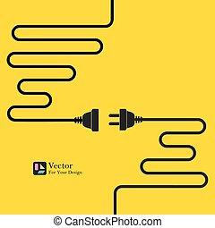 Concept connection, disconnection, electricity.