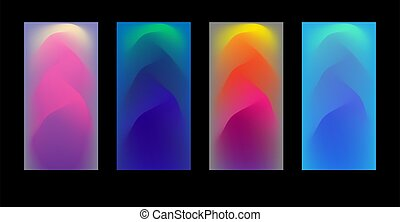 abstract, vector, backgrounds., projects., illustratie, enig, set