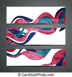 abstract, vector, banieren