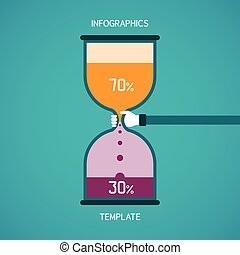 Abstract vector bar diagram infographic template in flat style