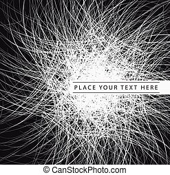 Abstract vector Black Background