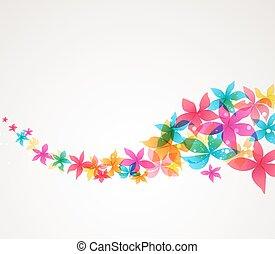 abstract, vector, bloemen