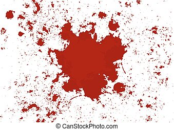 abstract vector blood splatter red color isolated