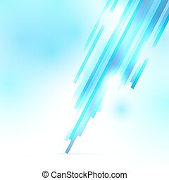 Abstract vector blue and white shiny background