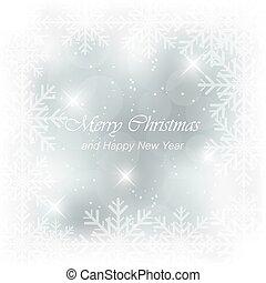 Abstract vector blue light Christmas card