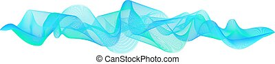 Abstract vector blue sea wavy element for design