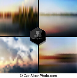 Abstract Vector blur background