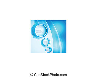 abstract, vector, bocht, cirkel, blue.