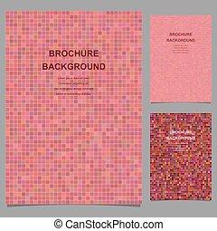 Abstract vector brochure template design