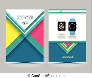 Brochure Template with smart watch.