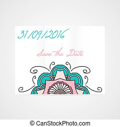 Abstract vector brochure with floral ornament