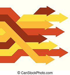 Abstract vector business concept: success, growth or progress.