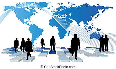 business metaphor - Abstract vector business metaphor theme...
