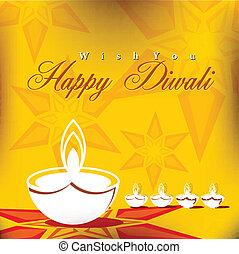 Abstract vector card design with shiny color for Diwali festival in India.
