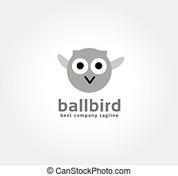 Abstract vector cartoon owl logo icon concept. Logotype...