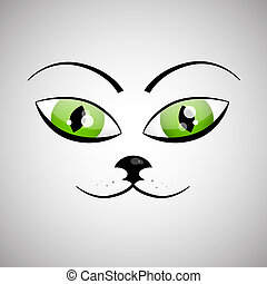 Abstract Vector Cat Face