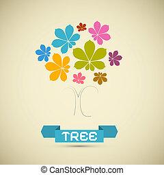 Abstract Vector Chestnut Tree Illustration