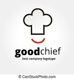 Abstract vector chief cup with smile logotype concept...