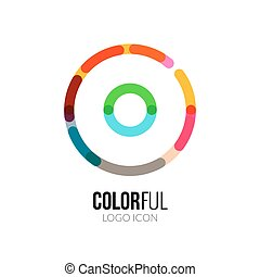 Abstract vector circle colorful logo design for business