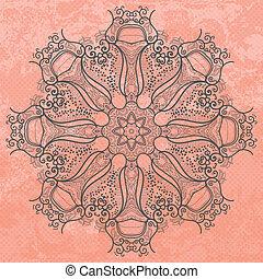 Abstract vector circle ornament. .