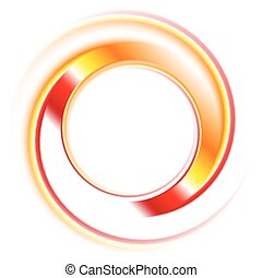 Abstract vector circles logo background
