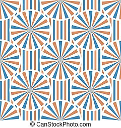 Abstract vector circles seamless pattern