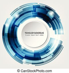 Abstract Vector Circles Technology Background
