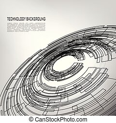 Abstract Vector Circles Technology with white Background