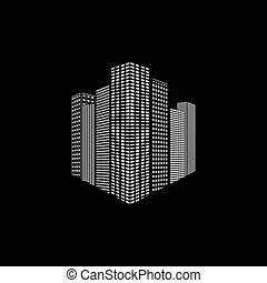 Abstract vector city