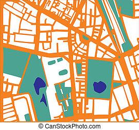 Abstract vector city plan