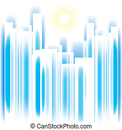 Abstract vector cityscape