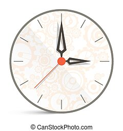 Abstract Vector Clock Illustration Isolated on White Background