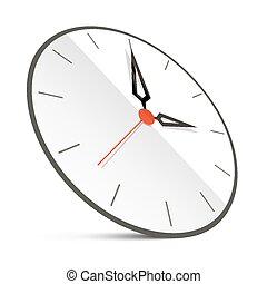 Abstract Vector Clock Illustration Isolated on White