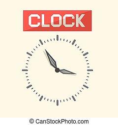 Abstract Vector Clock Illustration