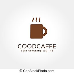 Abstract vector coffe cup logo icon concept. Logotype template for branding and corporate design