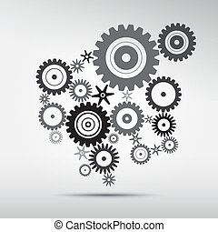 Abstract vector cog, gears