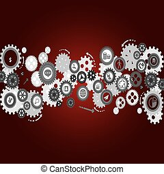 Abstract vector cogs - gears.
