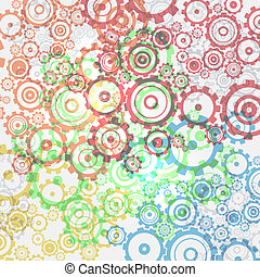 Abstract vector cogs - gears background