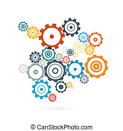 Abstract Vector Cogs - Gears Illustration