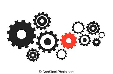 abstract vector cogs, gears