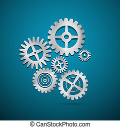 Abstract vector cogs - gears
