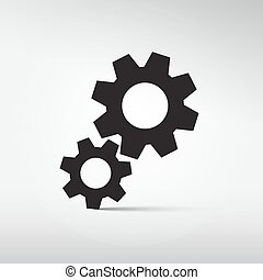 Abstract Vector Cogs - Gears Symbols - Icons