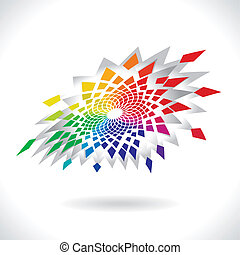 Circle Colorful Elements - Abstract Vector Color Flower...