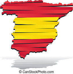 Abstract vector color map of Spain